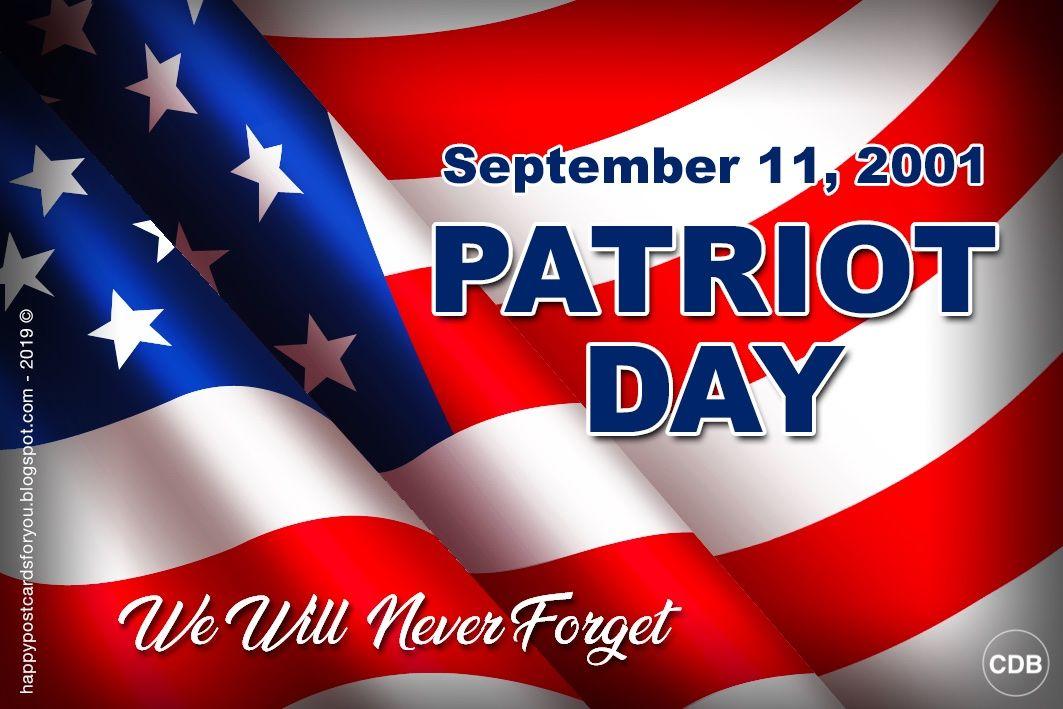 Cdb Happy Postcards For You Postcard Patriot Day September 11 2001 We Patriots Day Postcard September 11