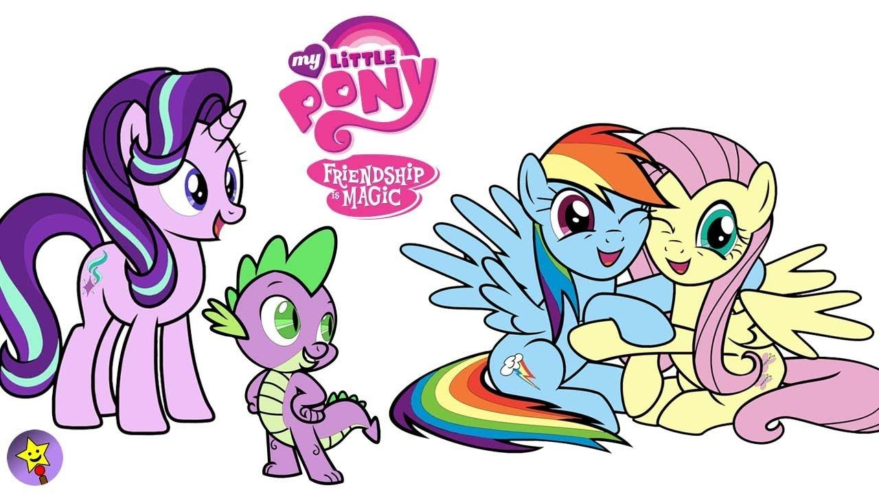 A Compilation Of My Little Pony Coloring Page Videos Starlight Glimmer Coloring Book Page Fluttershy Co My Little Pony Coloring Rainbow Dash Mlp My Little Pony