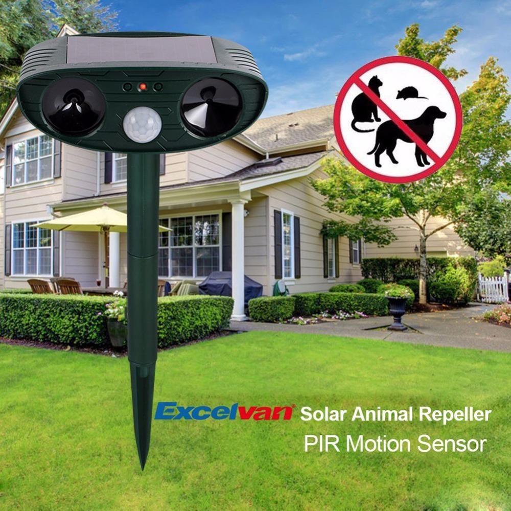 Cat Repeller Ultrasonic Garden Dog Fox Repellent Solar Powered PIR Motion Sensor
