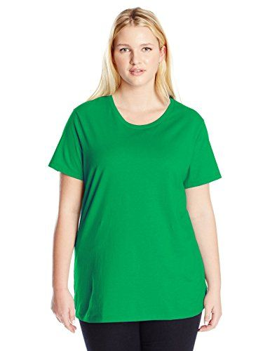 162855e09bcbde Just My Size Womens PlusSize Short Sleeve Crew Neck Tee Laurel 5X     Want  additional info  Click on the image.
