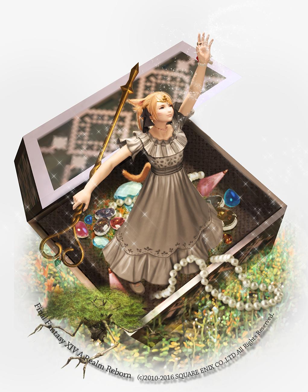 """Luna on Twitter: """"Lunaさんは銀のワンピースを着た、茶色い髪のツインテールの魔女。キャンディーの杖を使って流れ星を降らせることが得意で、お姫様の宝石箱に住んでいます。#FF14で魔女っ子診断 ツインテ隠れたし補正でブロンドになっちゃったw https://t.co/rNbYM2mHOq"""""""