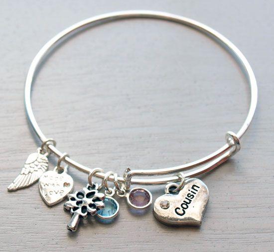 Personalized Adjule Bangle Bracelet Cousin Gift