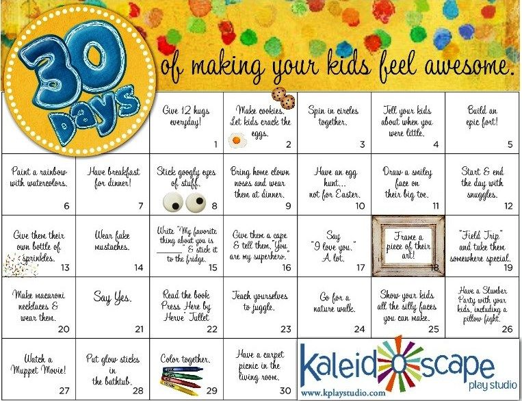 A 30 day challenge to connect with your kids and make them