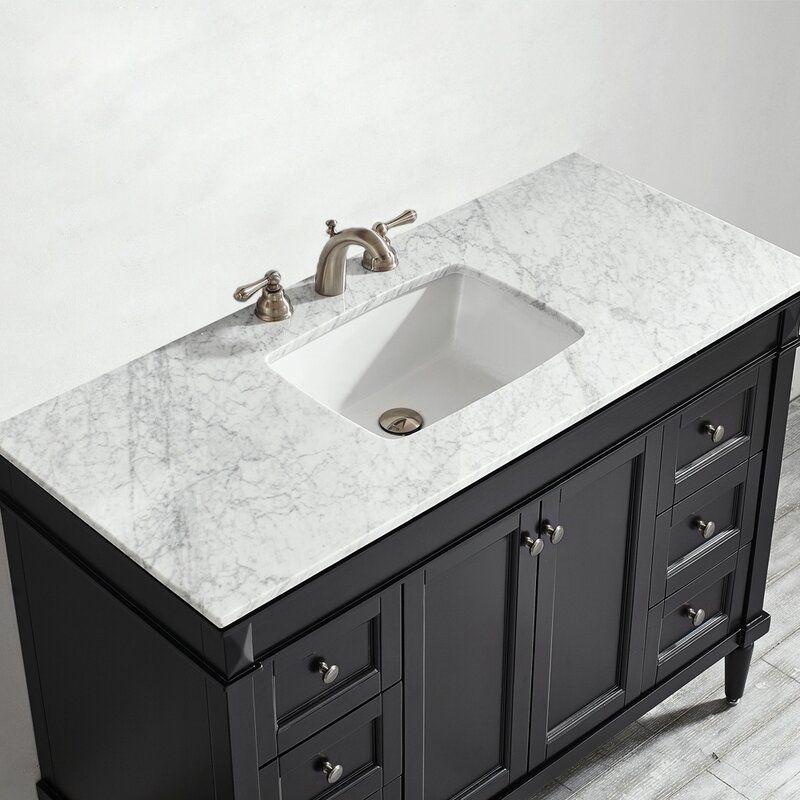 Sproule 48 Single Bathroom Vanity Set In 2021 Marble Vanity Tops Single Bathroom Vanity White Marble Countertops
