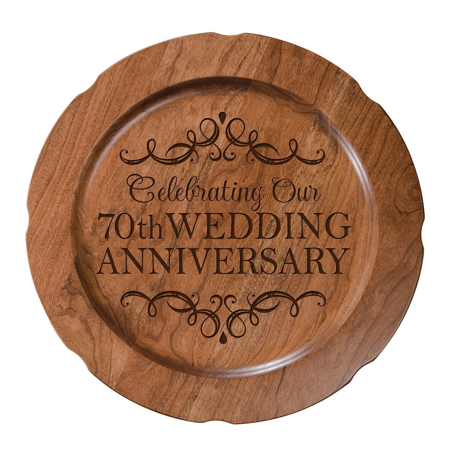 Decorative 70th Wedding Anniversary Plate Gift for Mr