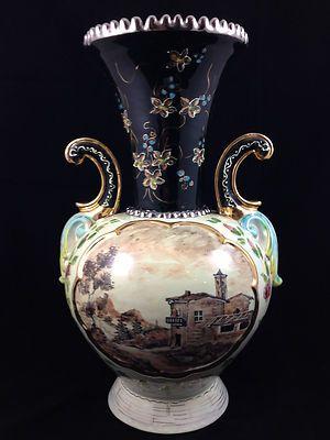 Antique Gualdo Tadino Italian Lustre Vase Signed Polish Pottery Pottery & China
