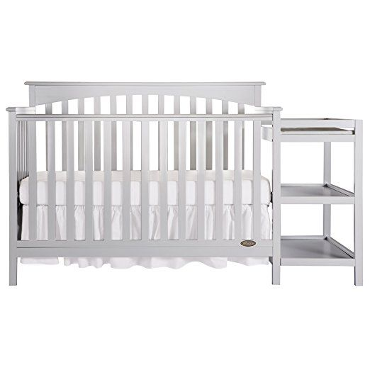 Amazon Com Dream On Me Chloe 5 In 1 Convertible Crib With Changer White Cribs And Changer Baby Cribs Convertible Crib Crib With Changing Table