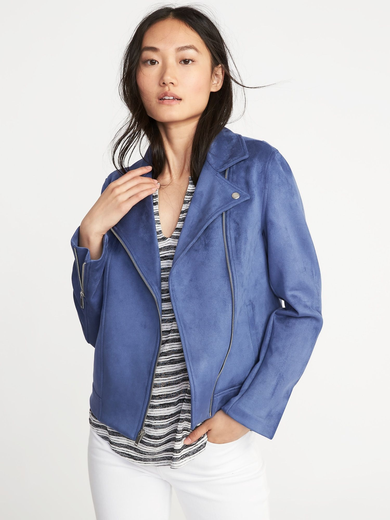3508f1c529 Sueded-Knit Moto Jacket for Women