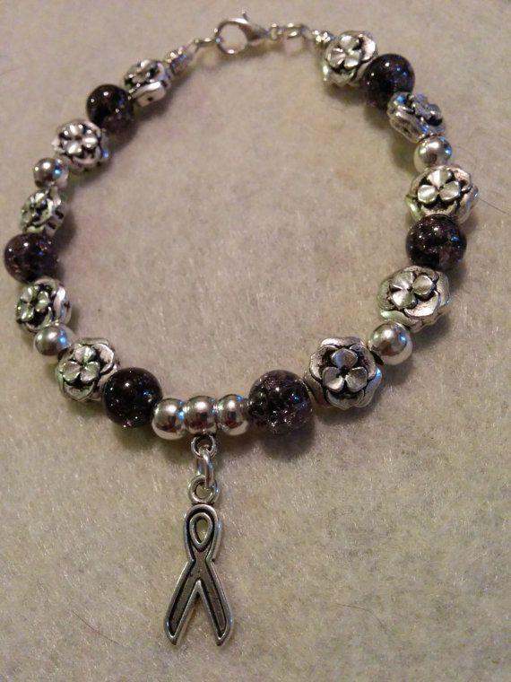 f75631438 AWARENESS - Silver Ribbon Charm Bracelet   Bejeweled   Bracelets ...