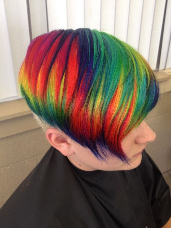 Www Outrageousrainbows Com With Images Rainbow Hair Color