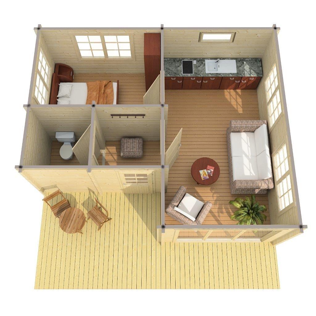 Grosses Gartenhaus Mit Veranda Alabama 30m 70mm 6x7 Hansagarten24 Gartenhaus Mit Veranda Gartenhaus Modernes Kleines Haus