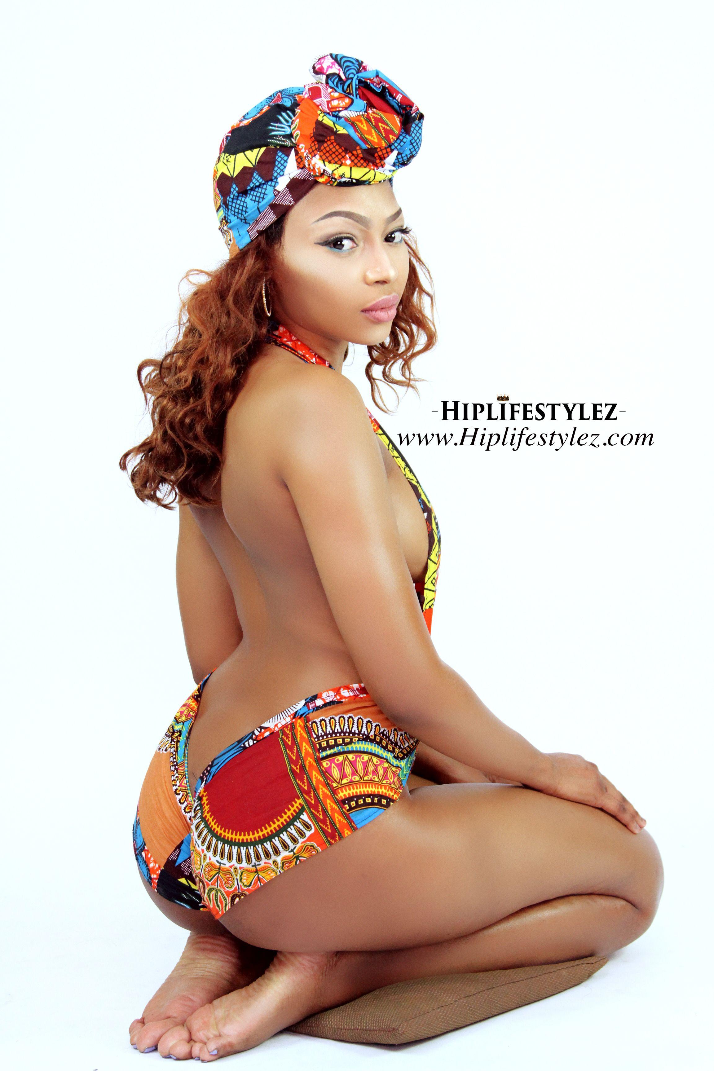 3d23b085f6 Sexy Dashiki Wrap Bathing Suit African print Monokini Bikini beach wear  swimwear