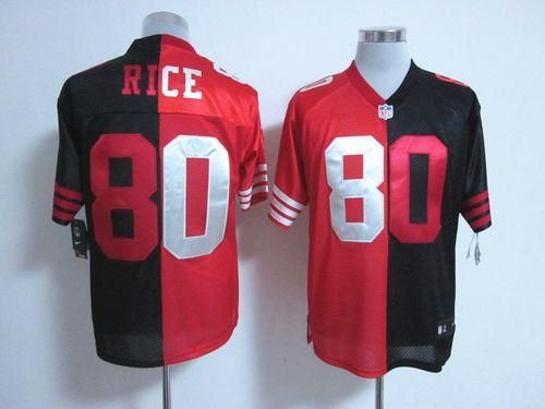 online store 32baa 2f5cd Nike 49ers #80 Jerry Rice Black/Red Men's Stitched NFL Elite ...