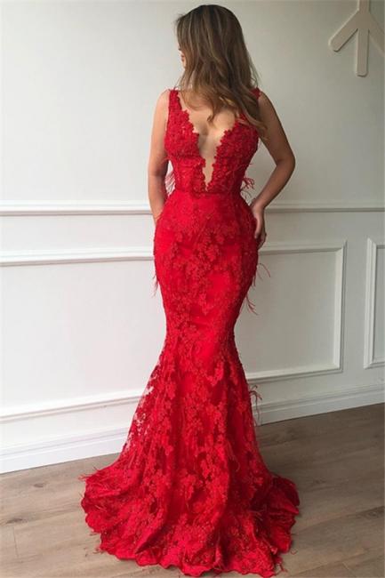 Elegante Abendkleider Lang Rot | Spitze Abendmoden ...