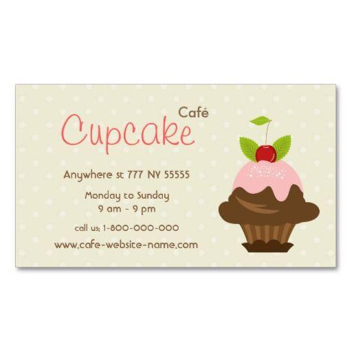 Cupcake Cafe Business Card
