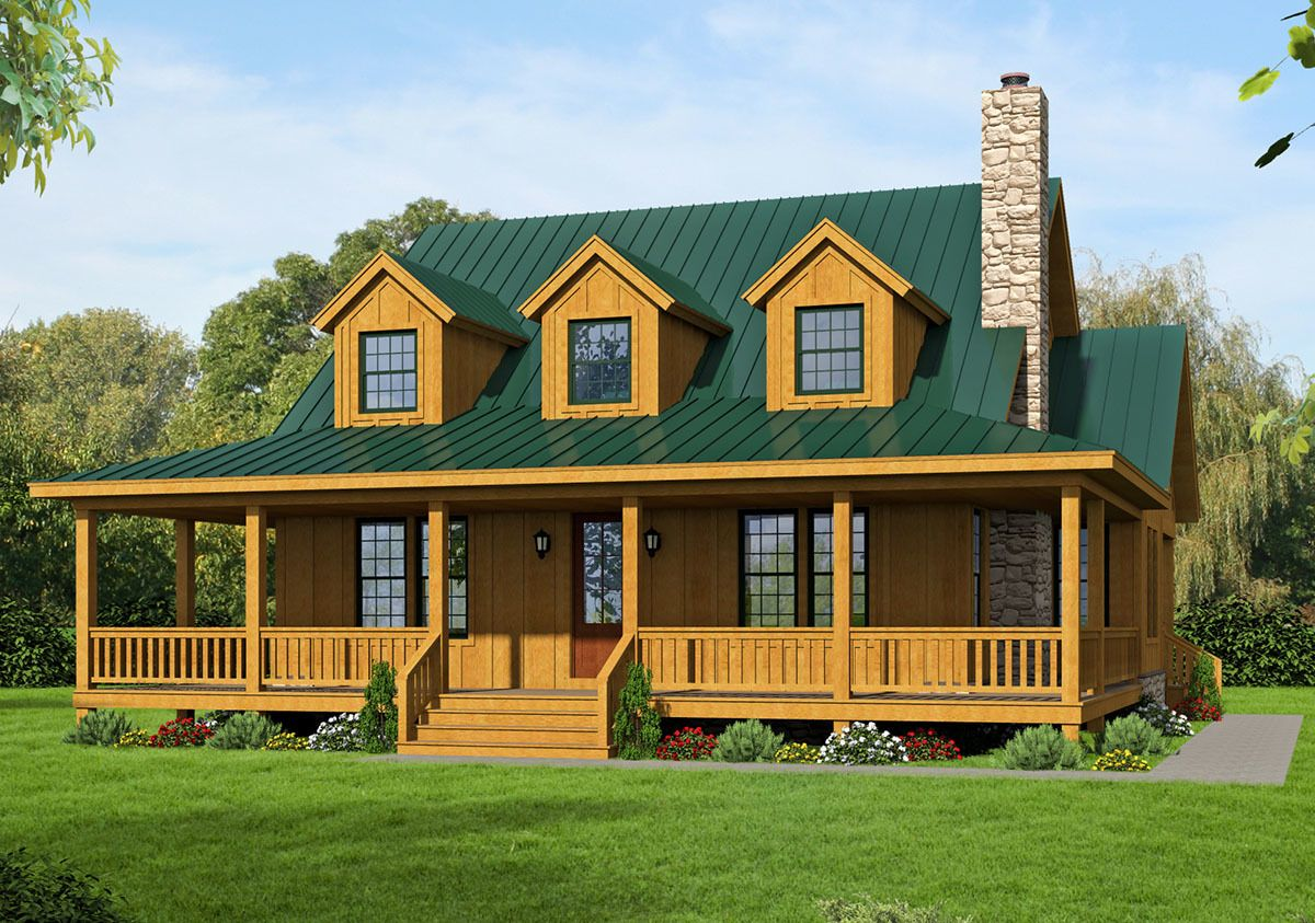 Plan 68433VR Country Home Plan with 2Master Suites and