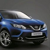 Nissan Qashqai (J11E) Front Lip Finisher - Chrome