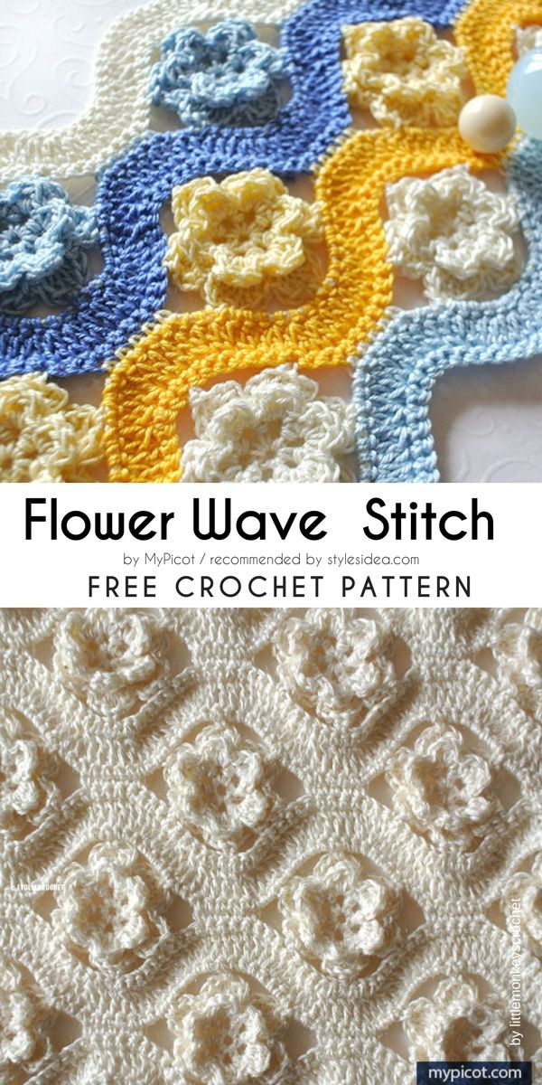 Wave Stitches Collection Free Crochet Patterns | Crafts Ideas ...