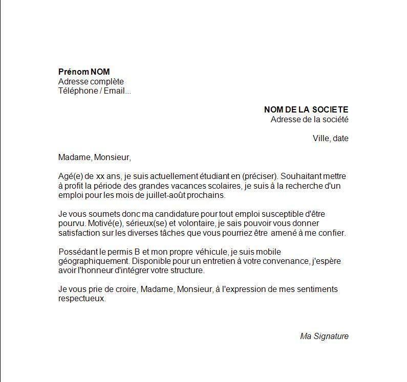 Nouvelle Exemple D 039 Une Lettre De Motivation Pour Demande De Visa Etudiant Good Company Good To Know Job