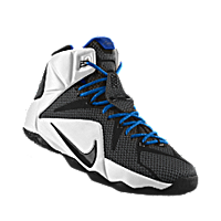 f60bba03f290 I designed the black Nike LeBron 12 iD men s basketball shoe with photo blue  and white trim to support the Memphis Tigers.