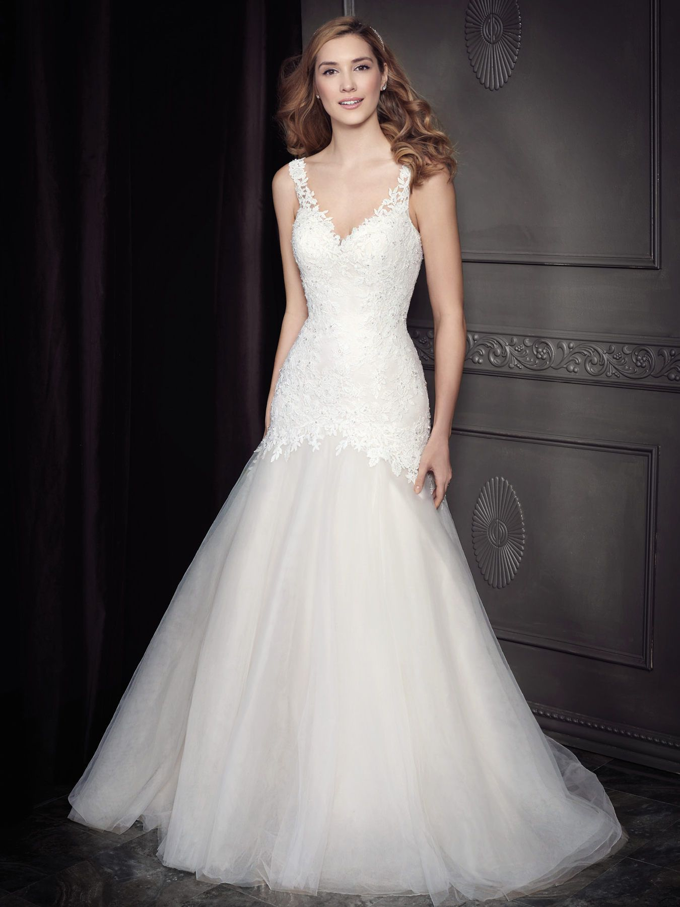 4f948792f Wedding dress with lace fitted bodice