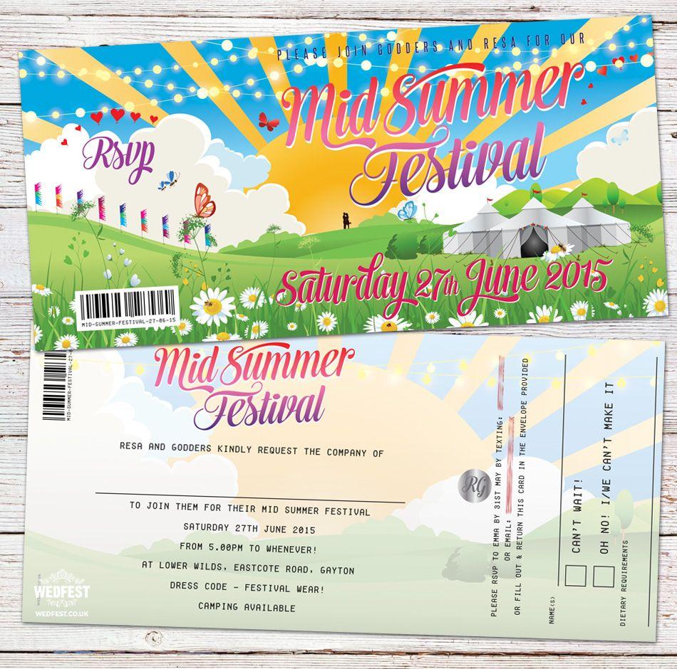 summer festival wedding party invitation http://www.wedfest.co ...