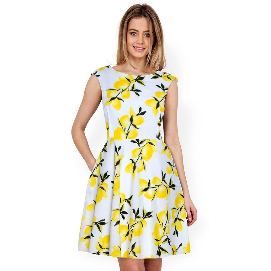 6af4cd4811 Lemon Yellow One Piece Dress
