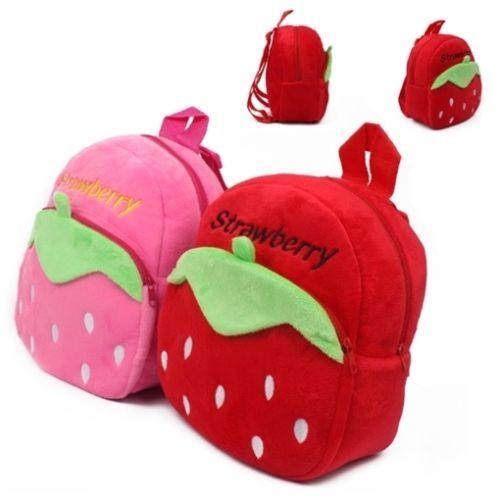 Strawberry-Kids-Plush-PreSchool-Backpack-Cute-Toddlers-Baby-Boys-School-Bag 60e95defabf60