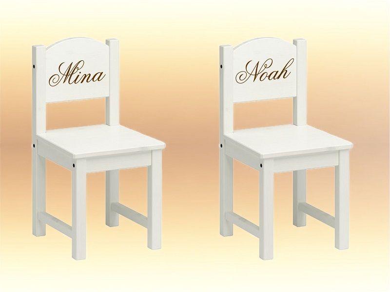 Stühle ♥ Stuhl mit Name Gravur Kinderstuhl ein