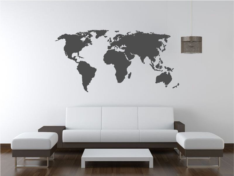 World map decal wall decal wall sticker 3200 via etsy decorating world map decal gumiabroncs Images