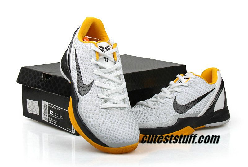 timeless design 731ac 24c89 Nike Zoom Kobe 6 Shoes Men Grey White yellow