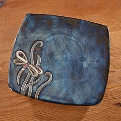 Dragonfly Stoneware Plate