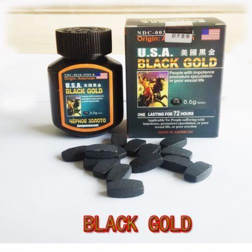 u s a black gold 1 bottle 16 pills male enhancers sex