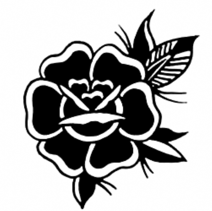 Pin De Todd Hooper Em Rosa Tattoo Tatuagem Tradicional Rose Tattoo Black Tatuagens Aleatorias