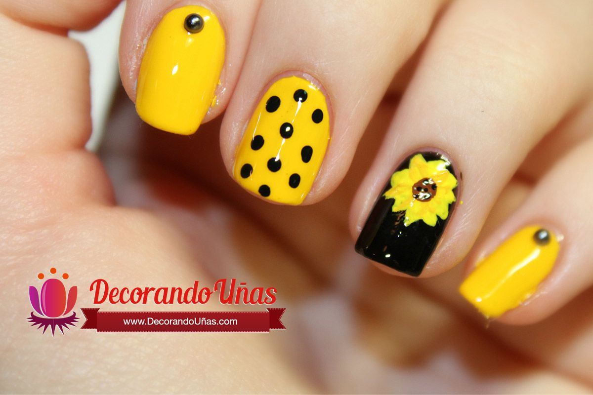 Pin by Sam on nail ideas | Pinterest | Yellow nails, Flower nails ...