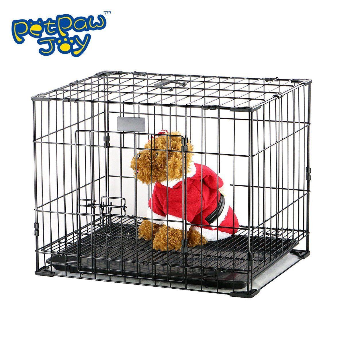 Petpawjoy Nop Rated Single Door Folding Metal Dog Crate With Easy