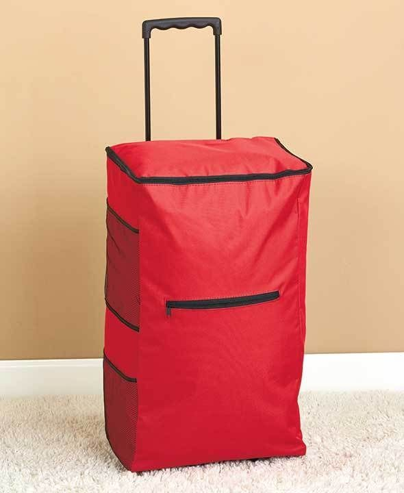 Portable Rolling Clothes Hamper Red Color College Dorm Home