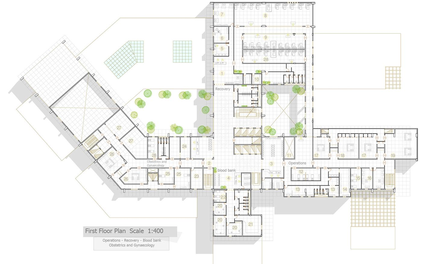 Hospital Architectural Plans On Architecture For General