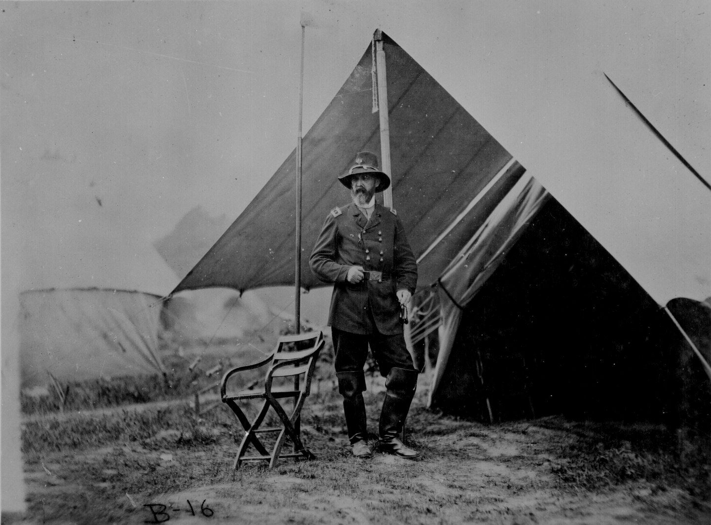 George G. Meade standing in front of his tent June & Maj. Gen. George G. Meade standing in front of his tent June 1864 ...