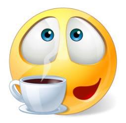 Coffee Emoticon | emoji drinking and eating | Emoticon, Smiley