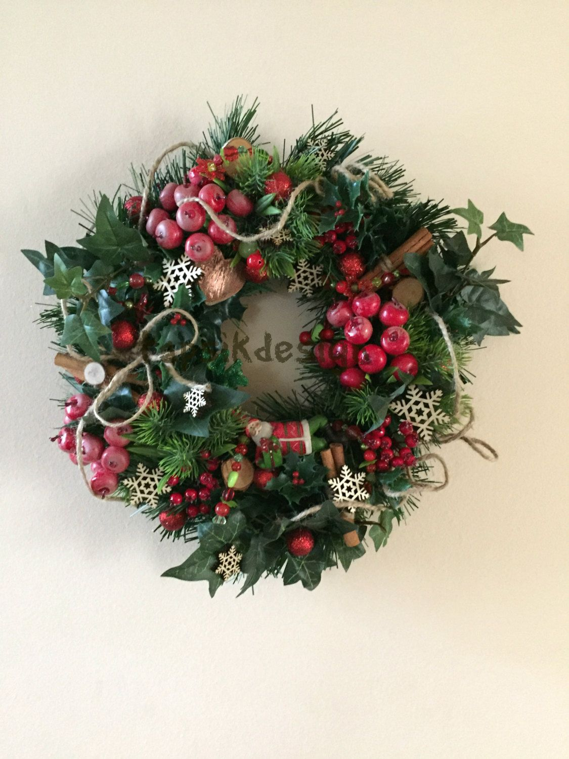 Christmas Wreath, Evergreen Wreath, Wall Decor, Home Decor ...