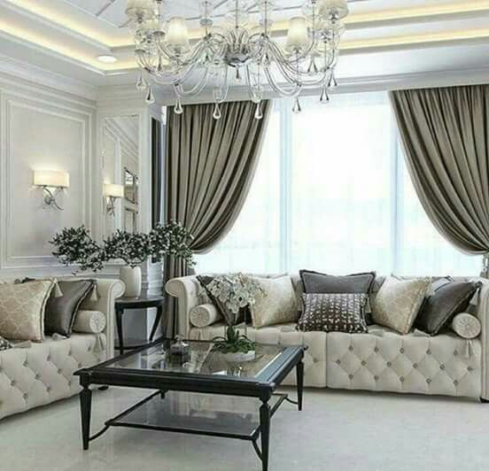 Formal Living Room Furniture Ideas: Pin By Amna Hassan On Curtains In 2019