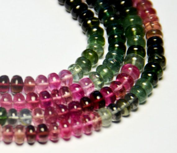 5mm 15″ line Watermelon TOURMALINE beads AA+ quality tou020 (we suggest using 0.10in 0.25mm wire)