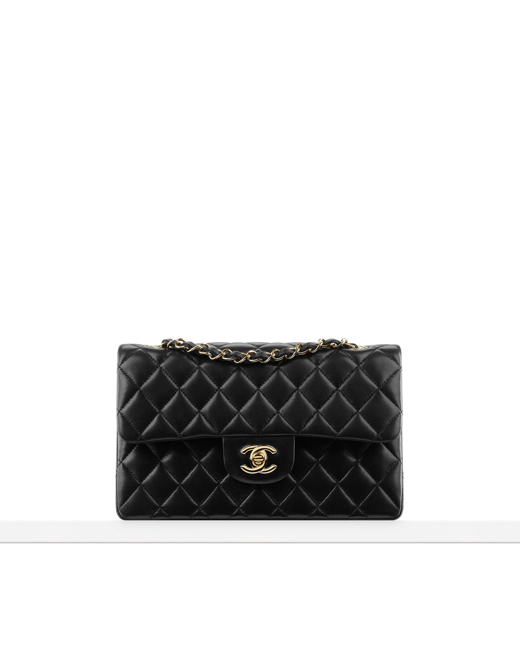 80881ce3fc5d  Chanel small flap in lambskin leather with gold hardware.  Goals   LuxuryHandbag  Handbag
