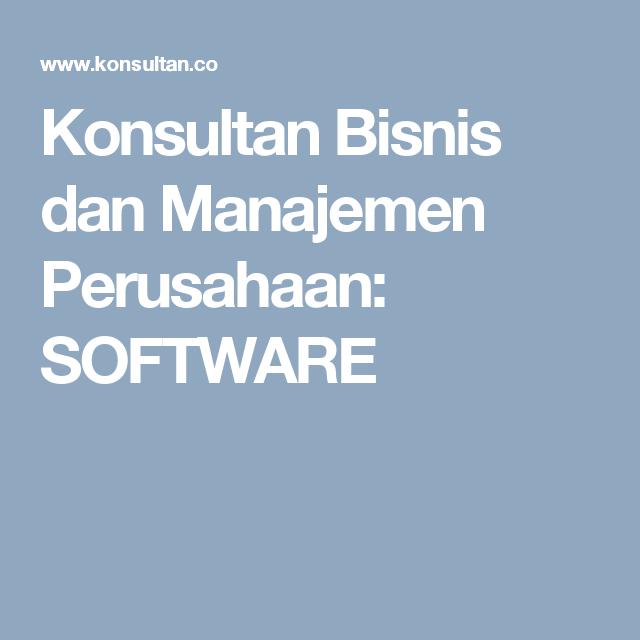 Konsultan Bisnis Dan Manajemen Perusahaan Software