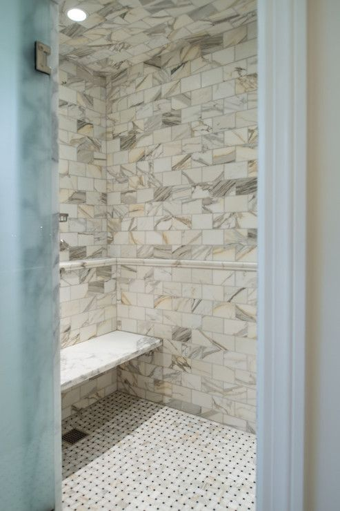 Shower With Calcutta Gold Marble Transitional Bathroom The Wills Company Calcutta Gold Marble Calcutta Gold Tile Shower Niche