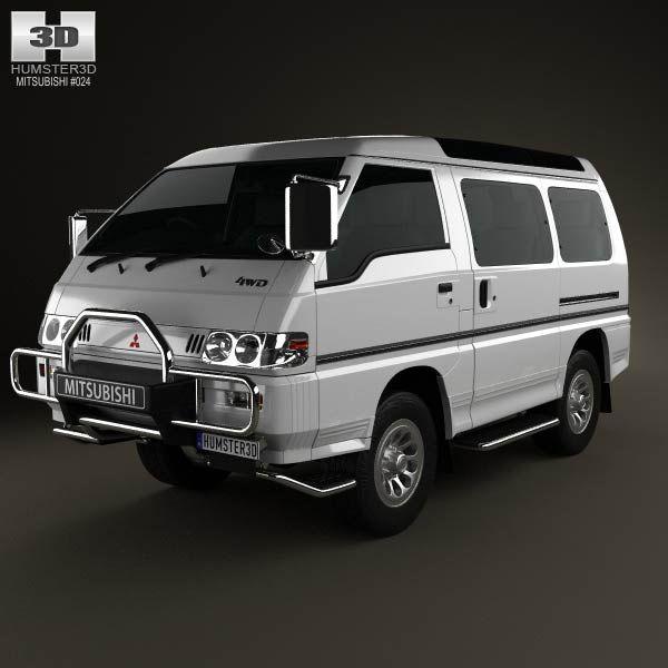 3d Model Of Mitsubishi Delica Star Wagon 4wd 1986 Mitsubishi Delica Mitsubishi Cars