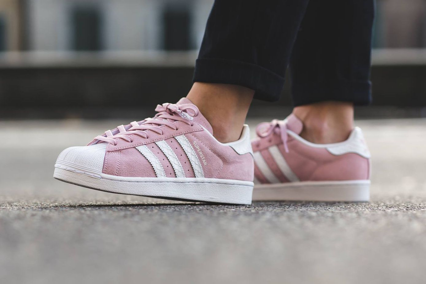 The adidas Superstar Receives a Pastel Pink Suede Treatment  eedd25f878