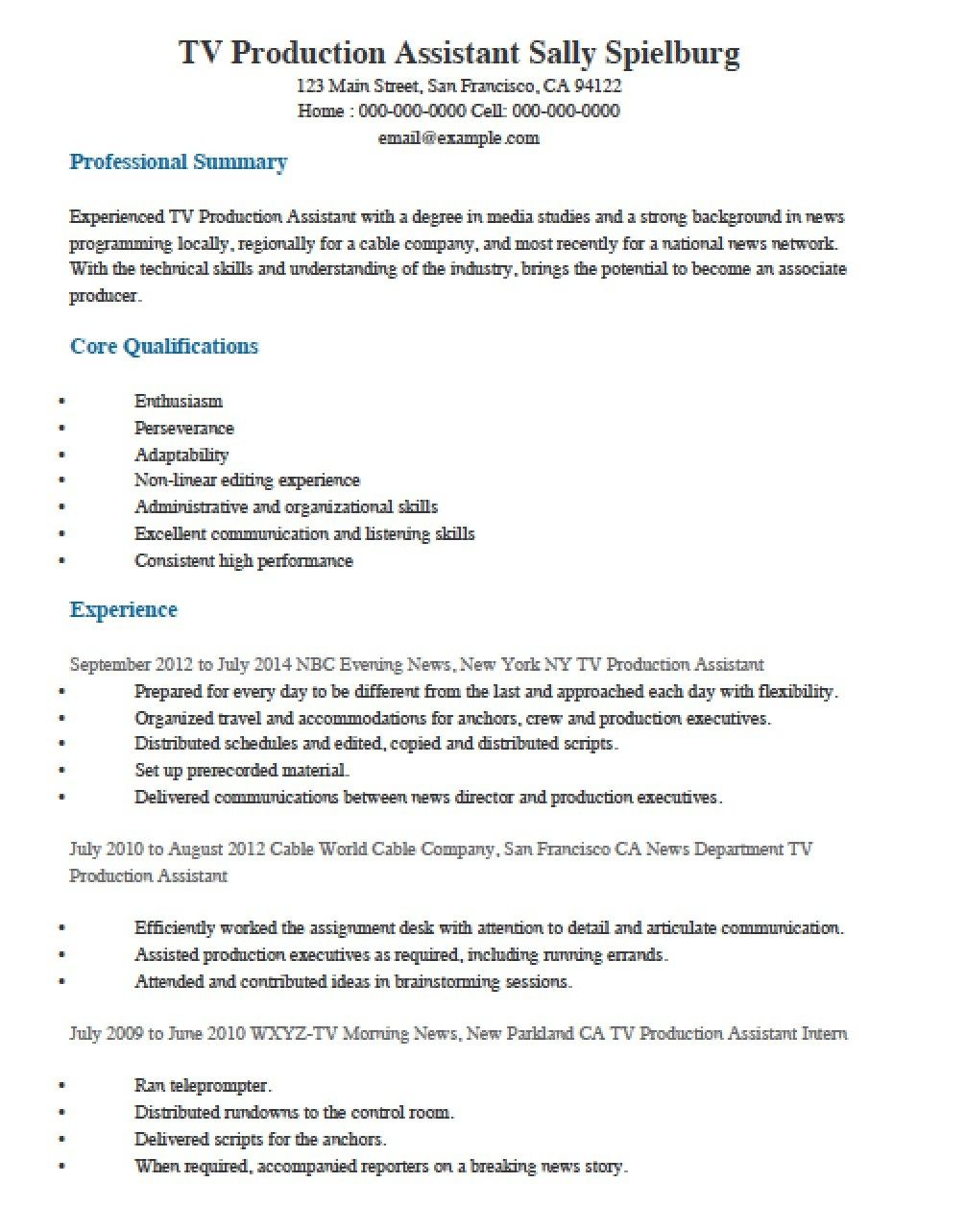 Production Supervisor Resume Examples New Production