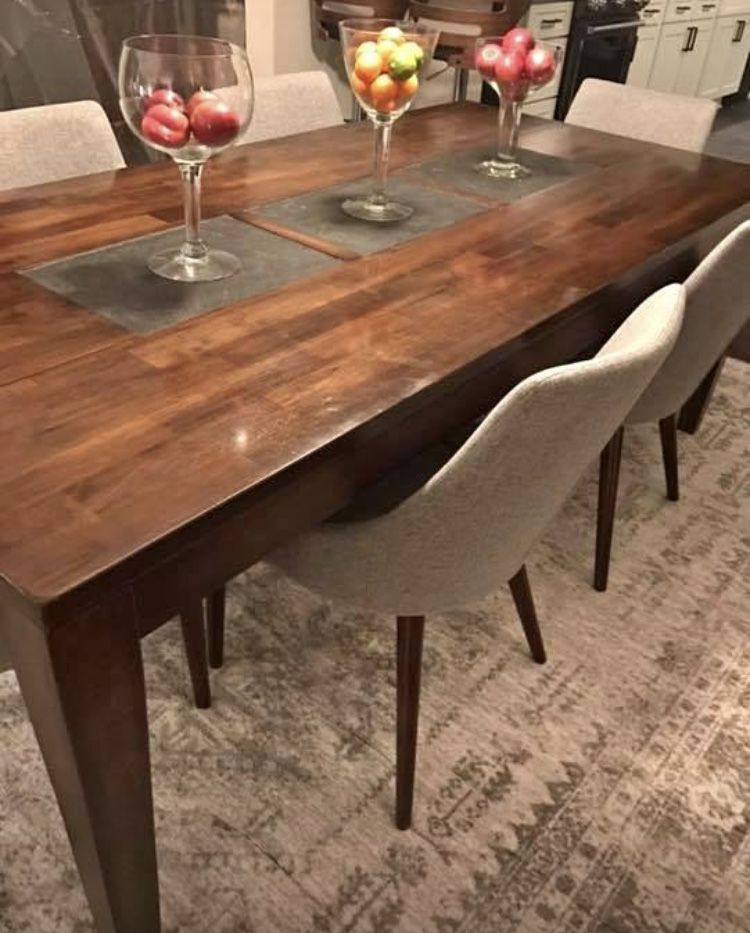 Wood Dining Table With Slate Inserts From World Market 388 40x84x34 Https Www Faceb Dining Room Table World Market Dining Table Metal Dining Room Table